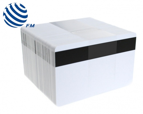 Fudan FM11HIRF08 1K Blank Cards with 2750oe Hi-Co Magnetic Stripe (Pack of 100)