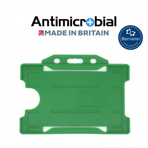 Light Green Antimicrobial Single Sided ID Card Holders - Landscape (Pack of 100)