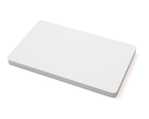 Blank White 470 Micron Plastic Cards (Pack of 100)