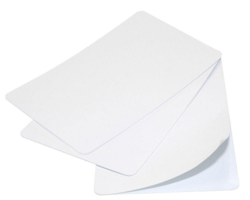 Premium White Self Adhesive 480-Micron Blank Plastic Cards (Pack of 100)