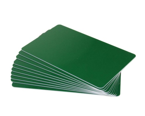 Forest Green Plastic Cards - 760 Micron (Pack of 100)