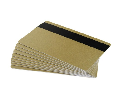 Light Gold Plastic Cards With Hi-Co Magnetic Stripe - 760 Micron (Pack of 100)