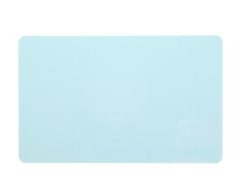 Light Blue Premium 760 Micron Cards, Coloured Core (Pack of 100)