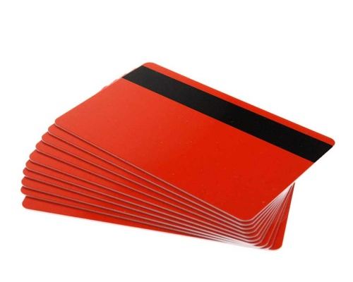 Orange Plastic Cards with Hi-Co Magnetic Stripe Coloured Core - 760 Micron (Pack of 100)