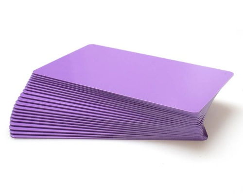 Purple Premium Plastic Cards - 760 Micron (Pack of 100)