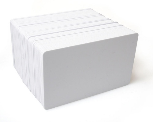 Dyestar Blank White Plastic Cards 760 Micron with PET Core (Pack of 100)