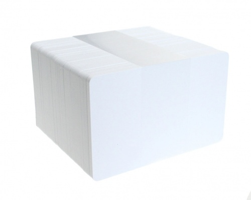 Dyestar Blank White Biodegradable Plastic Cards (Pack of 100)