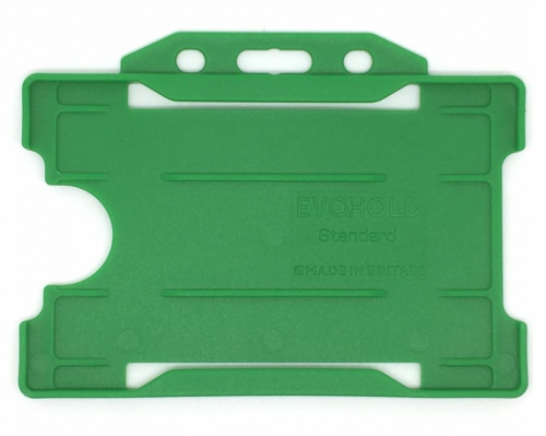 Light Green Recyclable Evohold Single Sided Open Face ID Badge Holders – Landscape (Pack of 100)