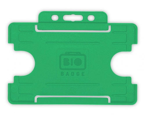 Light Green Single-Sided Biobadge Open Faced ID Card Holder Landscape x 100