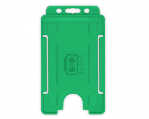 Light Green Single-Sided BioBadge Open Faced ID Card Holder, Portrait x 100