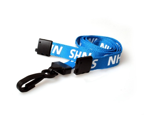 NHS Staff Lanyards with Breakaway and Plastic J Clip (Pack of 100)