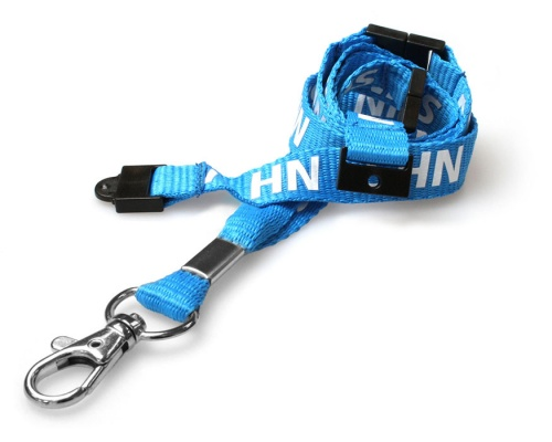 NHS Staff Lanyards with Triple Breakaway and Trigger Clip (Pack of 100)