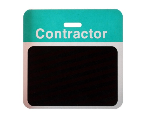 TEMPbadge Back Part - Contractor - Green (Pack of 1000)