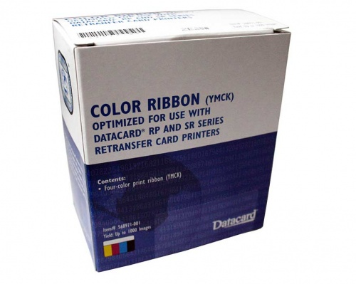 Datacard 568971-001 YMCK Full Colour Ribbon for SR200 SR300 RP90 (1000 Prints)