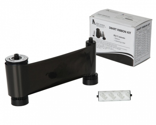 IDP Smart 30/50 Black Mono 650653 Printer Ribbon with Cleaning Roller (1200 Prints)