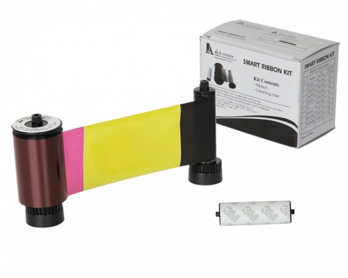 IDP Smart 30/50 650634 YMCKO Colour Printer Ribbon with Cleaning Roller (250 Prints)