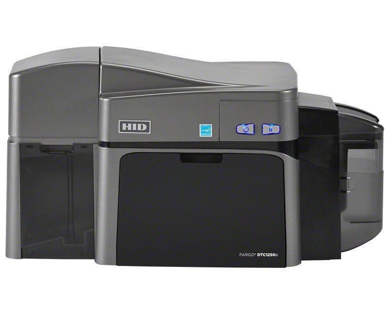 fargo dtc1250e dual sided plastic id card printer 50100 - Plastic Id Card Printer