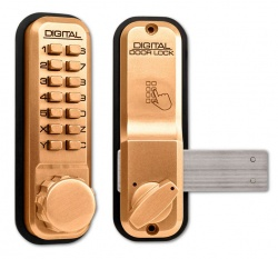 Lockey 2200 Series Digital Lock with Rim Dead Bolt
