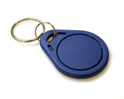EM4200 125KHz PVC Read-Only Key Fobs - Blue (Pack of 100)