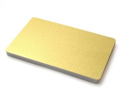 Premium Light Gold Plastic Cards - 420 Micron (Pack of 100)