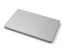 Premium Silver Plastic Cards - 420 Micron (Pack of 100)