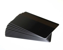 Black Plastic Cards With Hi-Co Magnetic Stripe - 760 Micron (Pack of 100)