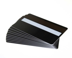 Black Plastic Cards 760 Micron With Magnetic Stripe & Signature Strip (Pack of 100)