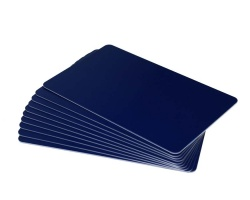 Dark Blue Plastic Cards - 760 Micron (Pack of 100)