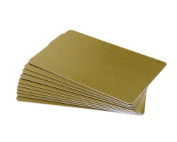 Dark Gold Plastic Cards - 760 Micron (Pack of 100)