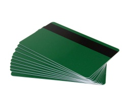 Forest Green Plastic Cards With Hi-Co Magnetic Stripe - 760 Micron (Pack of 100)