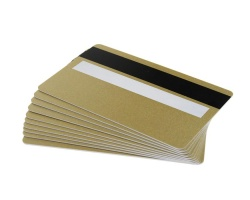 Light Gold Plastic Cards 760 Micron With Magnetic Stripe & Signature Strip (Pack of 100)