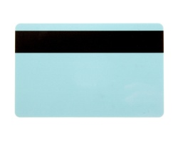 Light Blue Plastic Cards With Hi-Co Magnetic Stripe - 760 Micron (Pack of 100)