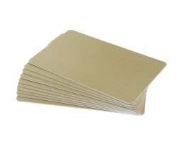 Light Gold Plastic Cards - 760 Micron (Pack of 100)
