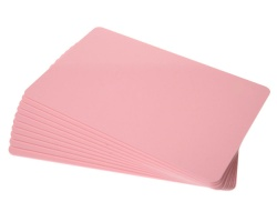 Pink Premium Plastic Cards - 760 Micron (Pack of 100)