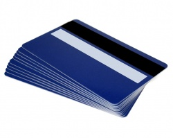 Royal Blue Plastic Cards 760 Micron With Magnetic Stripe & Signature Strip (Pack of 100)