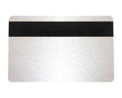 Silver Cards with 2750oe Hi-Co Magnetic Stripe, Coloured Core - 760 Micron (Pack of 100)