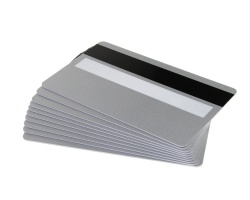 Silver Plastic Cards 760 Micron With Magnetic Stripe & Signature Strip (Pack of 100)