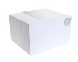 Blank White Plastic Cards with 12mm Metal Insert (Pack of 100)