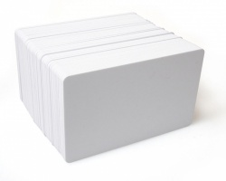 Dyestar Blank White 760 Micron PVC Plastic Cards (Pack of 100)