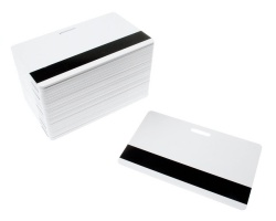Dyestar Blank White Plastic Cards With Hi-Co Mag and Punch Slot (Pack of 100)