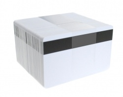 Dyestar Blank White Plastic Cards With 400oe Lo-Co Magnetic Stripe (Pack of 100)