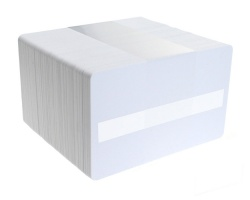 Dyestar Blank White 760 Micron PVC Plastic Cards With Signature Strip (Pack of 100)