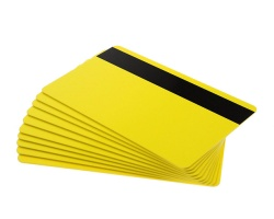 Yellow Plastic Cards With Hi-Co Magnetic Stripe - 760 Micron (Pack of 100)