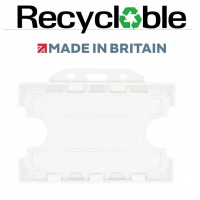 Clear Recyclable Evohold Double Sided ID Card Holders - Landscape (Pack of 100)