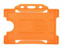 Orange Recyclable Evohold Single Sided Open Face ID Badge Holders – Landscape (Pack of 100)
