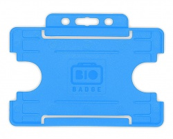 Light Blue Single Sided Biobadge Open Faced ID Card Holder x 100