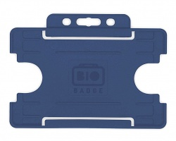 Dark Blue Single-Sided Biobadge Open Faced ID Card Holder x 100
