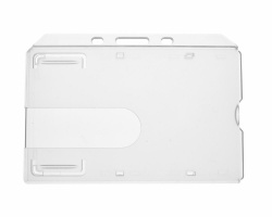 Clear Enclosed Rigid ID Card Holders - Landscape (Pack of 100)