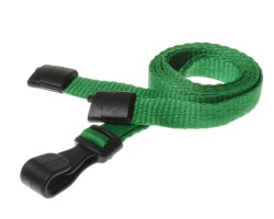 Plain Light Green Lanyards with Breakaway and Plastic J Clip (Pack of 100)