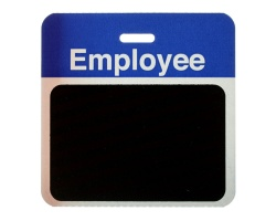 TEMPbadge Back Part - Employee Passes - Blue (Pack of 1000)